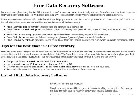free-recovery.net thumbnail