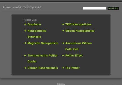 whois thermoelectricity.net