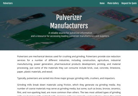pulverizers.net thumbnail