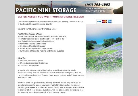 pacificministorage.net thumbnail