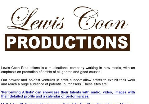 lewiscoonproductions.net thumbnail