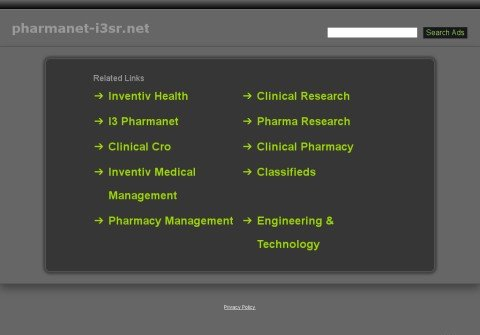 pharmanet-i3sr.net thumbnail