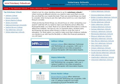 veterinary-schools.net thumbnail
