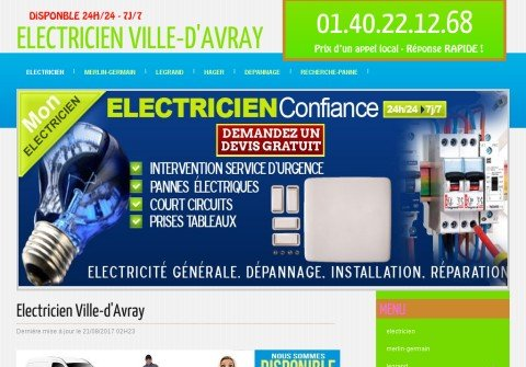 electricienvilledavray.net thumbnail