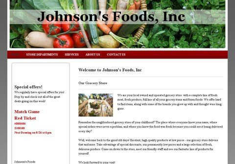 whois johnsonsfoods.net
