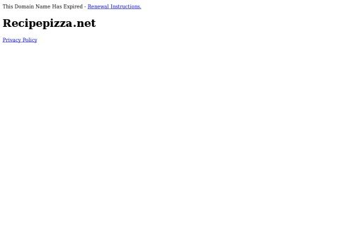 recipepizza.net thumbnail