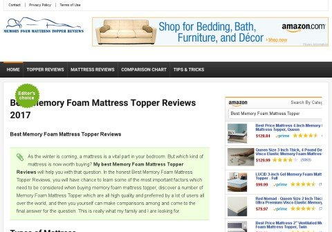 memoryfoammattresstopperreviews.net thumbnail