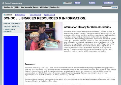 school-libraries.org thumbnail