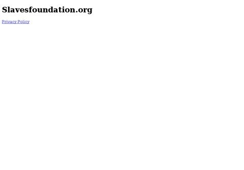 whois slavesfoundation.org