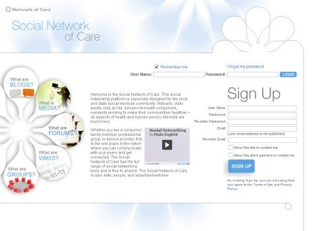 socialnetworkofcare.org thumbnail