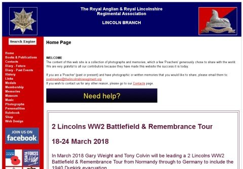 thelincolnshireregiment.org thumbnail