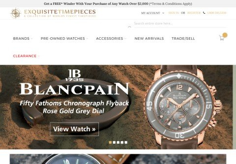 exquisitetimepieces.com thumbnail