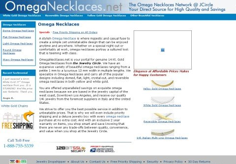 omeganecklaces.net thumbnail