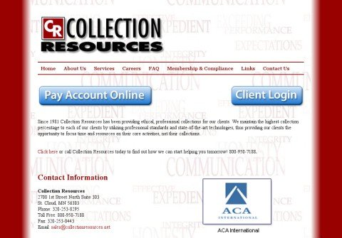 collectionresources.net thumbnail