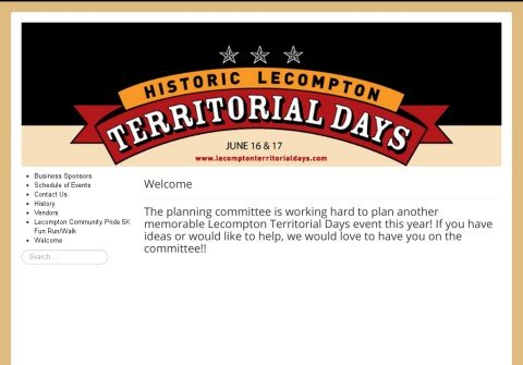 lecomptonterritorialdays.com thumbnail