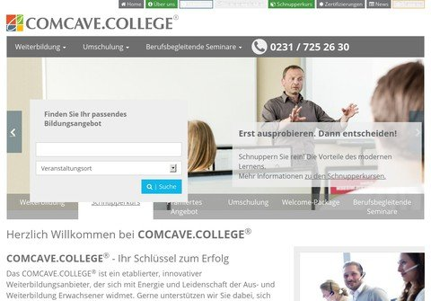 comcave-college.net thumbnail