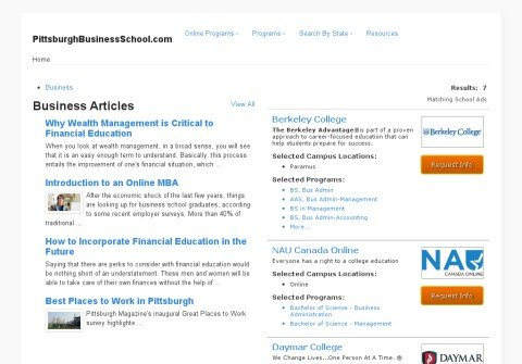 pittsburghbusinessschool.com thumbnail