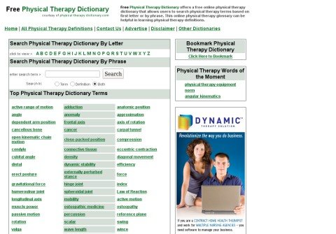 physicaltherapydictionary.com thumbnail