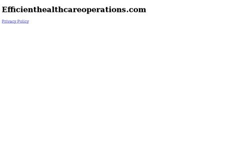 efficienthealthcareoperations.com thumbnail