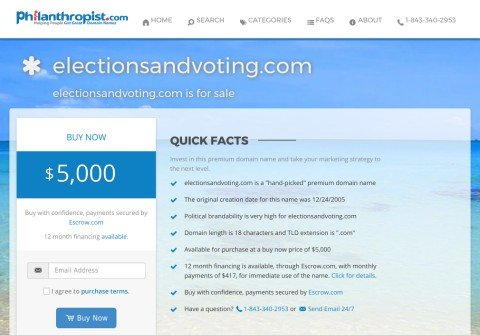 electionsandvoting.com thumbnail