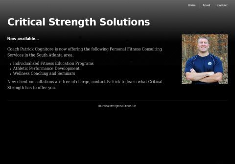 criticalstrengthsolutions.com thumbnail