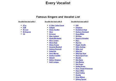 everyvocalist.com thumbnail