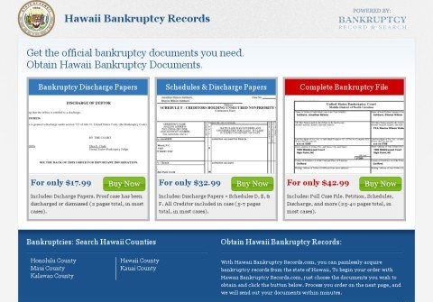 hawaiibankruptcyrecords.com thumbnail