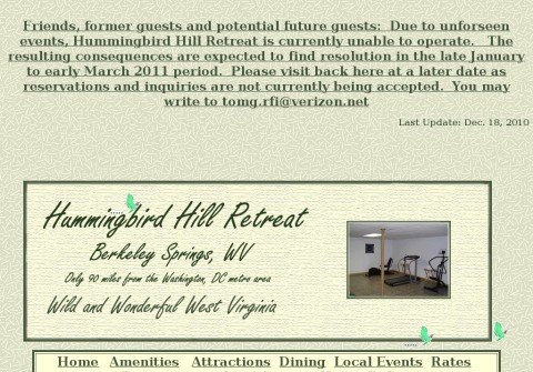 hummingbirdhillretreat.com thumbnail