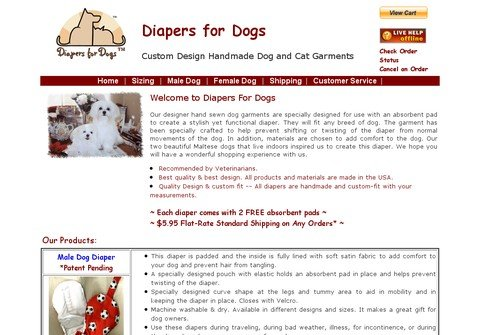 diapersfordogs.com thumbnail