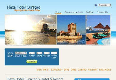 plazahotelcuracao.com thumbnail