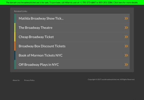 yourbroadwayticket.net thumbnail