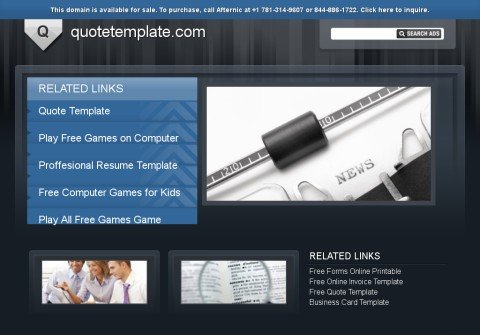 quotetemplate.com thumbnail