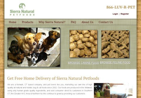 sierranaturalpetfood.com thumbnail