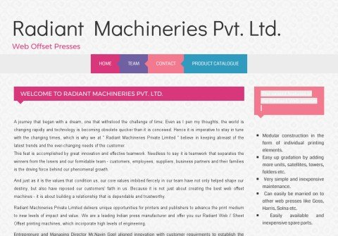 radiantmachineries.com thumbnail