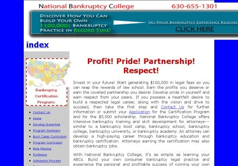 nationalbankruptcycollege.com thumbnail