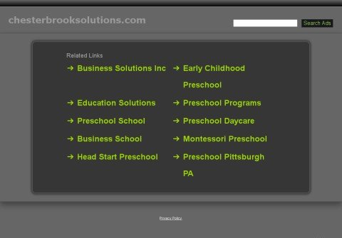 chesterbrooksolutions.com thumbnail