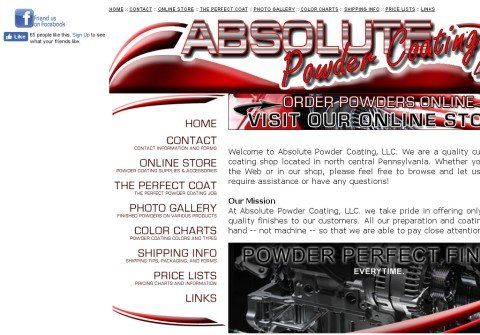 absolutepowdercoating.com thumbnail