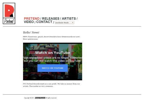 pretendrecords.com thumbnail