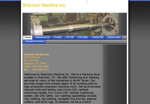 shermanmachine.net thumbnail